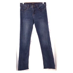 Ladies Banana Republic ragged RAW hem jeans sz 28